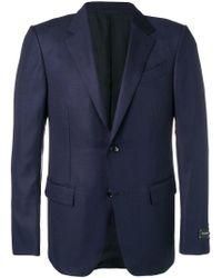 Ermenegildo Zegna Blue Slim-fit Blazer for men