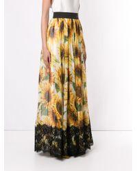 Dolce & Gabbana フローラルプリント ロングスカート Yellow