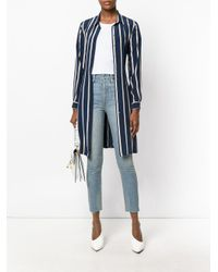 Re/done Blue High-rise Cropped Jeans