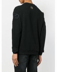 Philipp Plein Black Embroidered Tiger Sweatshirt for men
