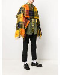 メンズ Comme des Garçons チェック スカーフ Yellow