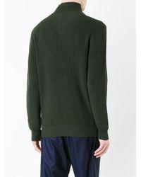 Kent & Curwen | Green Buttoned High Neck Jumper for Men | Lyst