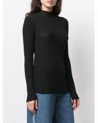 Acne Black Gerippter Pullover