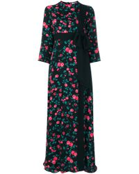 Vivetta - Black Floral Bow Detail Dress - Lyst