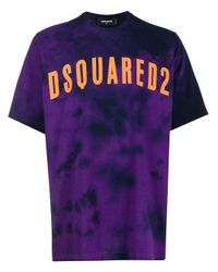 メンズ DSquared² タイダイ Tシャツ Purple