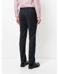 Cerruti 1881 Black Jacquard Tailored Trousers for men
