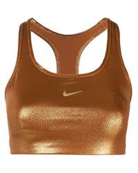 Reggiseno sportivo Clash di Nike in Brown