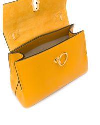 Borsa a spalla Seaton mini di Mulberry in Yellow