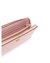 Tory Burch Pink Robinson Zip-around Wallet