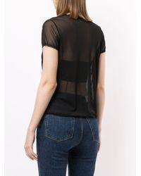Tu Es Mon Tresor フローラル メッシュ Tシャツ Black