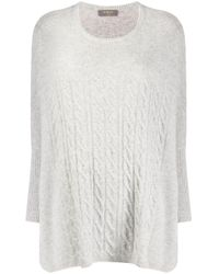 N.Peal Cashmere Multicolor Oversized Cable Knit Sweater