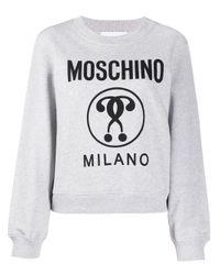 Moschino ロゴ スウェットシャツ Gray