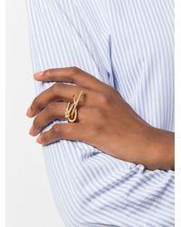 Eshvi - Metallic Venus Ring - Lyst