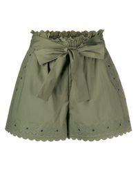 Shorts con ricamo di Twin Set in Green