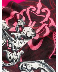 Alexander McQueen プリント スカーフ Pink