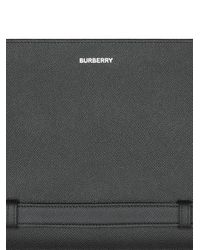 Pochette entièrement zippée à logo Burberry pour homme en coloris Black