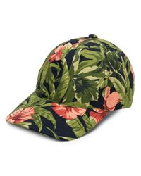 A.P.C. Green Floral Cap for men