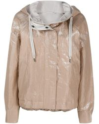 Brunello Cucinelli Natural Boxy Hooded Jacket