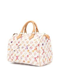 Сумка-тоут Speedy 30 С Монограммой Pre-owned Louis Vuitton, цвет: White