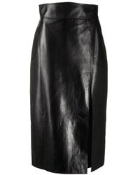 Gucci Black Leather High-waisted Pencil Skirt
