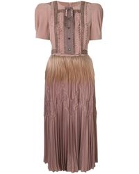 Bottega Veneta ラッフル イブニングドレス Brown