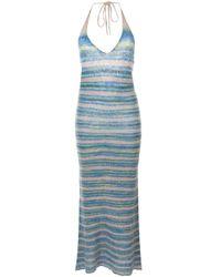 Jacquemus La Robe Tropea ニットドレス Blue