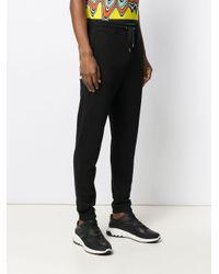 メンズ Just Cavalli ロゴ トラックパンツ Black