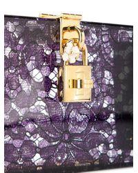 Dolce & Gabbana Dolce Box クラッチバッグ Purple