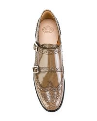 Church's Gray Double Monk Strap Shoes With Studs for men