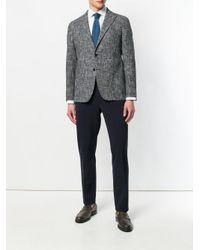 Tagliatore - Blue Checked Buttoned Blazer for Men - Lyst