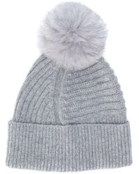 Woolrich ポンポン ニット帽 Gray