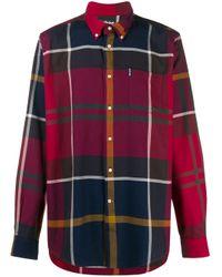 メンズ Barbour Dunoon チェックシャツ Red
