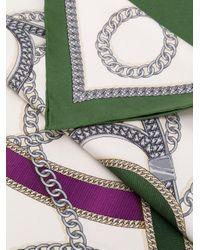 Ferragamo チェーンプリント スカーフ Multicolor