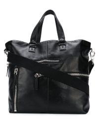 Valentino | Black Garavani Zip Detail Tote | Lyst