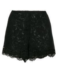 Short court en dentelle Valentino en coloris Black