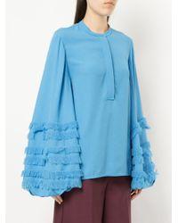 Roksanda - Blue Abeni Wide Sleeve Top - Lyst
