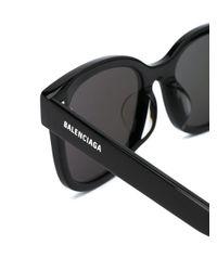 Balenciaga スクエアフレーム サングラス Black