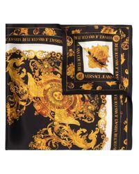 Écharpe en soie à imprimé baroque Versace Jeans en coloris Black