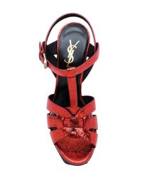 Saint Laurent - Red Classic Tribute 105 Sandals - Lyst