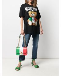 T-shirt Teddy Bear con stampa di Moschino in Black