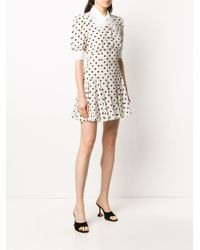 Vestido corto con motivo de lunares Alessandra Rich de color White