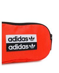 Adidas Orange Gürteltasche mit Logo-Patch