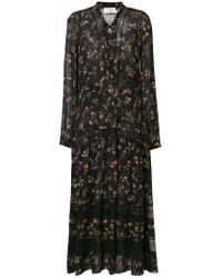 Zimmermann Black Floral Print Maxi Dress