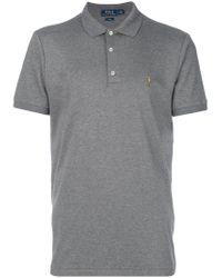 Polo Ralph Lauren Gray Logo Polo Shirt for men