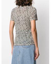 Nanushka ゼブラプリント Tシャツ Multicolor