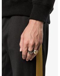 Alexander McQueen   Metallic Engraved Skull Ring for Men   Lyst