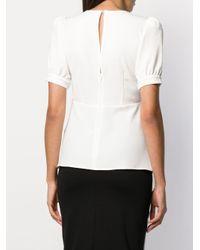P.A.R.O.S.H. White Bluse mit Puffärmeln