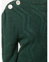 Jersey de punto de ochos grueso Isabel Marant de color Green
