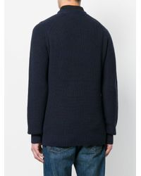 G-Star RAW | Blue Logo Patch Jumper for Men | Lyst