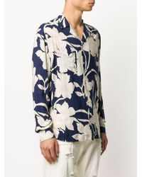 メンズ AllSaints フローラル シャツ Blue